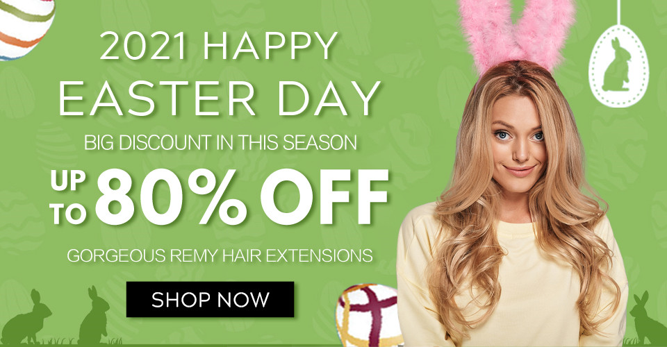 2021 Happy Easter Day Hair Extensions Sale Ireland